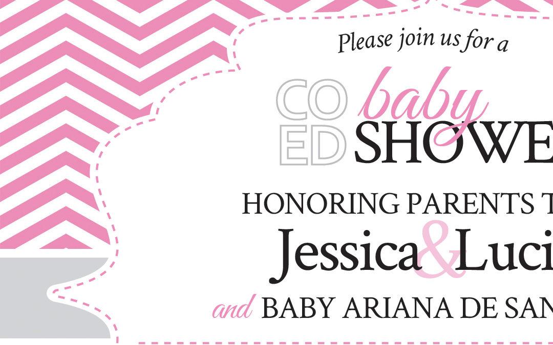 Baby Shower Invitation & Raffle Promotion Card