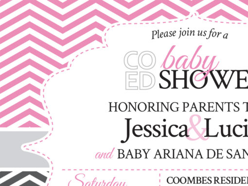 Baby Shower Invitation & Raffle Promotion Card